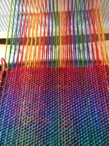 Double Rainbow Scarf in Progress