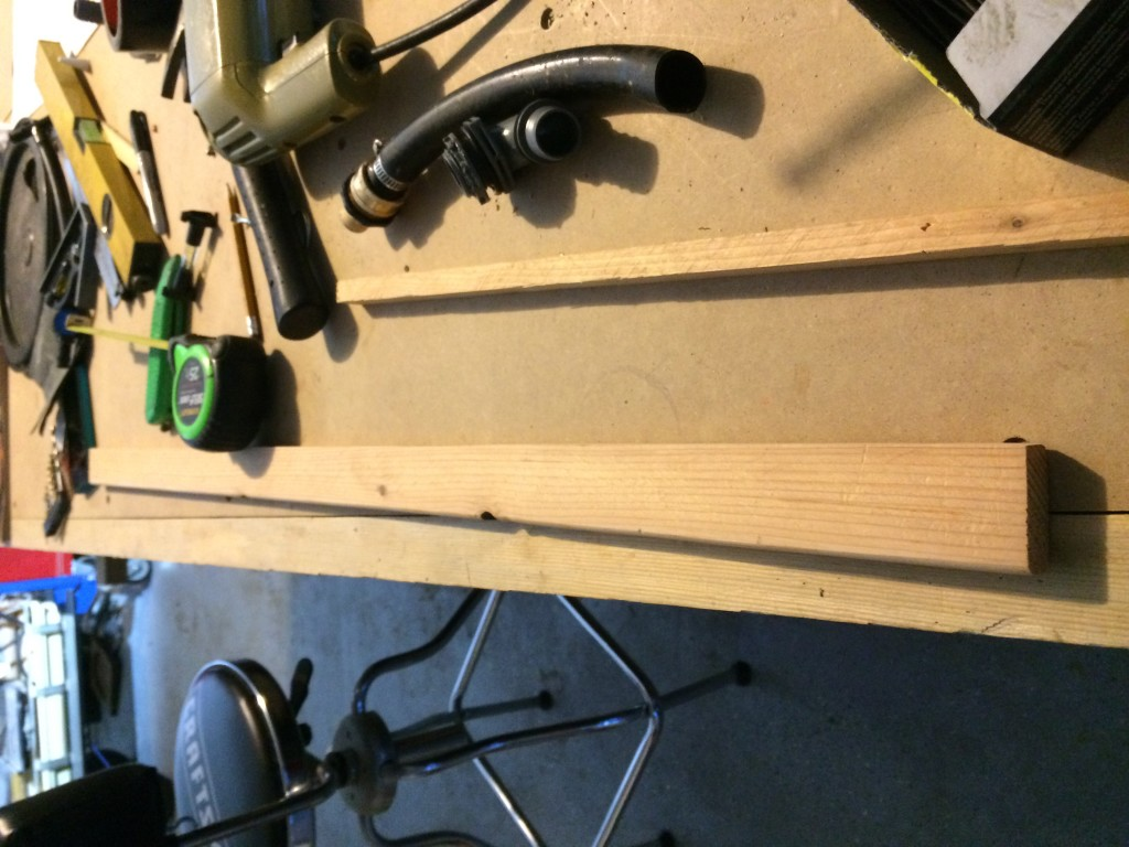 The measured, sanded, and routed wood base.