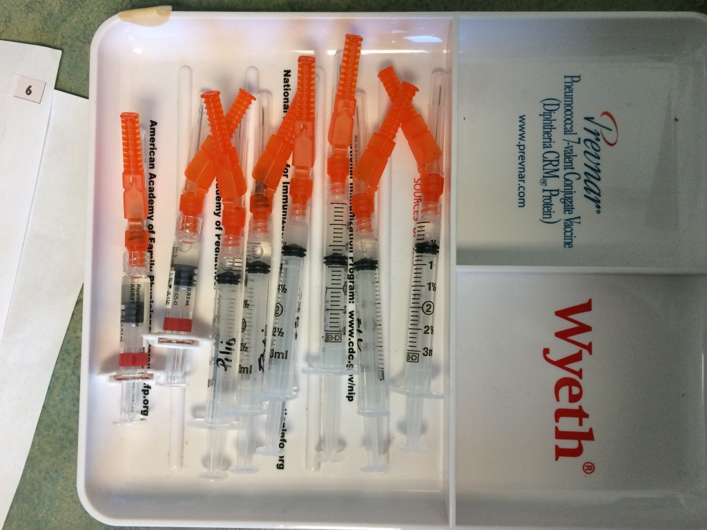 Two of these were for my husband's; the rest of those needles were for me.  He'd already had many of the necessary immunizations because of his previous travel.